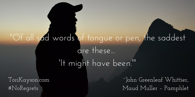 """Of all sad words of tongue or pen, the"