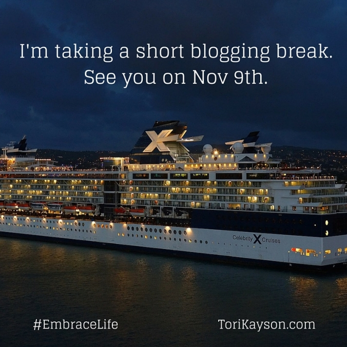 I'm taking a blogging break. see you on