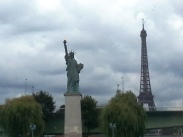 Eiffel Tower and Status of Liberty - Paris