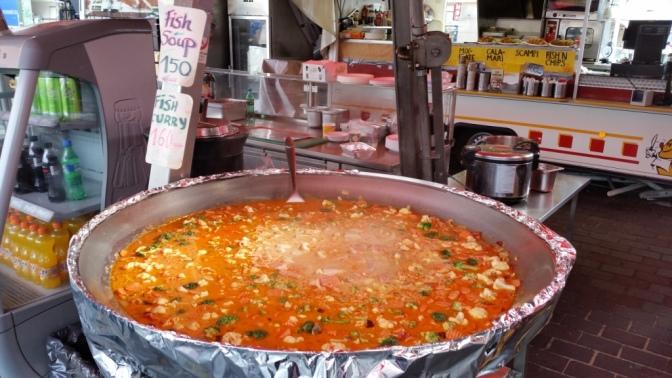 Fish Soup in Bergen, Norway
