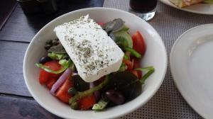 Greek Salad in Santorini, Greece