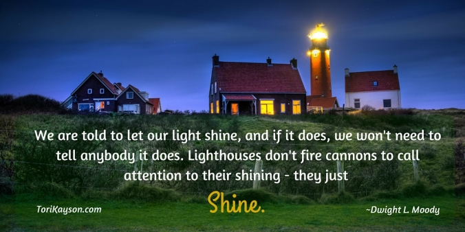 We are told to let our light shine