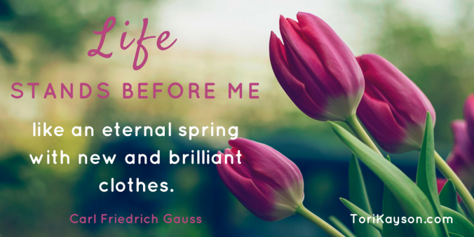 life spring quote Fiction Faith & Foodies