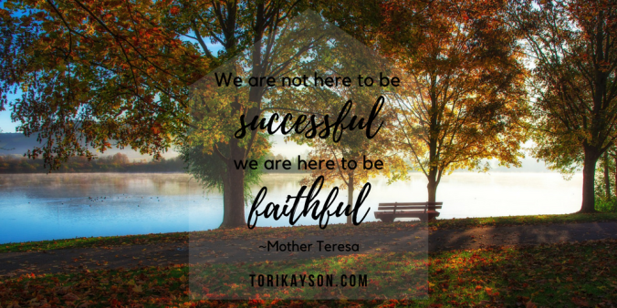 Tori Kayson Fiction Faith & Foodies successful faithful