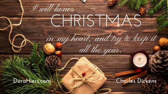 Christmas inspirational quote Dora Hiers Fiction Faith & Foodies