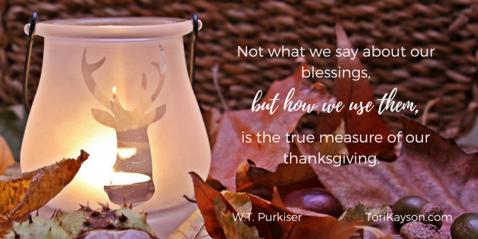 Thanksgiving blessings Dora Hiers Tori Kayson