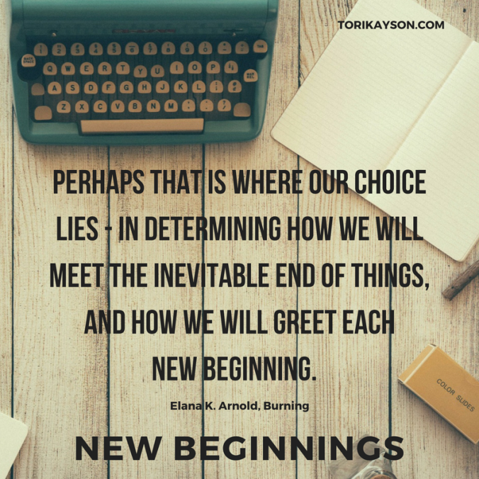 New Beginnings, New year, Tori Kayson