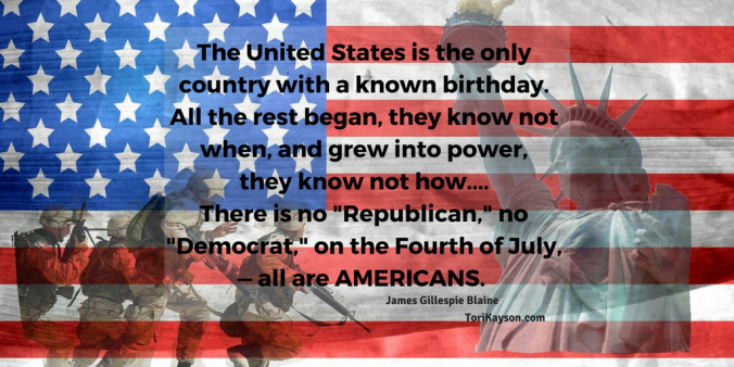 America, Fourth of July, quote, Tori Kayson