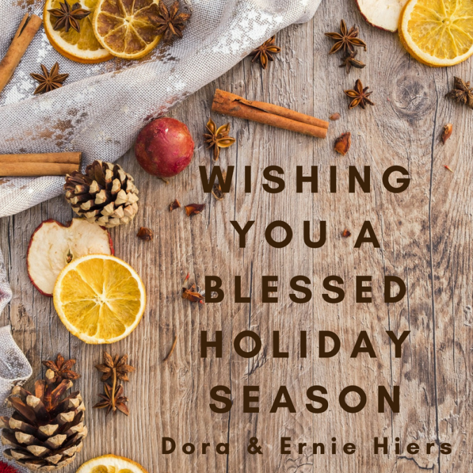 Christmas, Fiction Faith & Foodies, Ernie & Dora Hiers