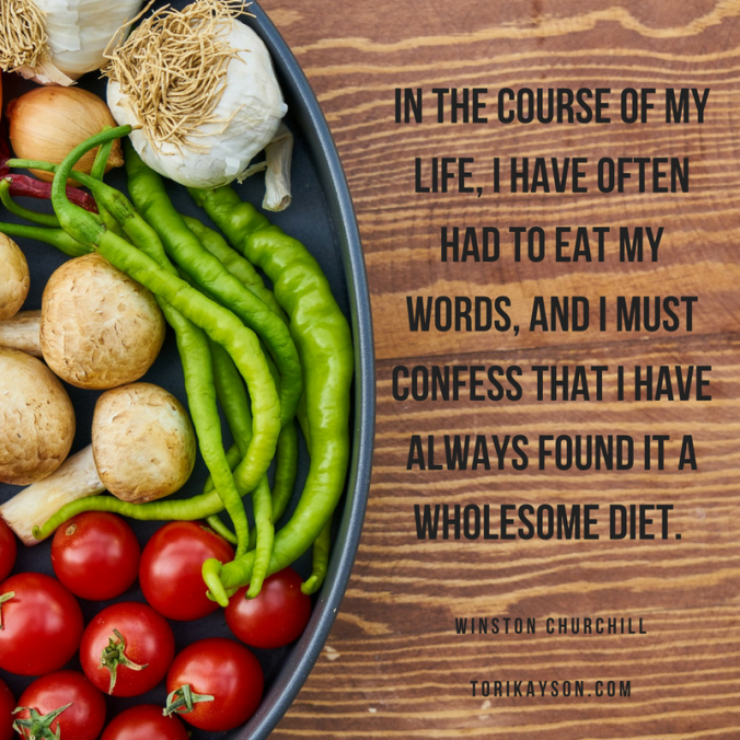 diet, inspirational quotes, Tori Kayson, Fiction Faith & Foodies