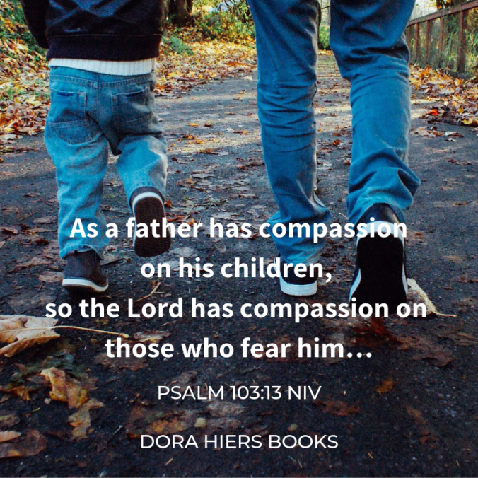 father and son, Bible verse, Dora Hiers Books