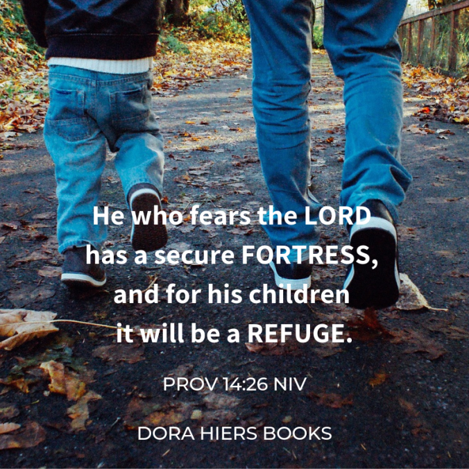 father and son, Dora Hiers books, Bible verse