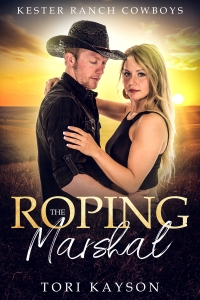 cowboy, romance novel cover, roping the marshal, ranch